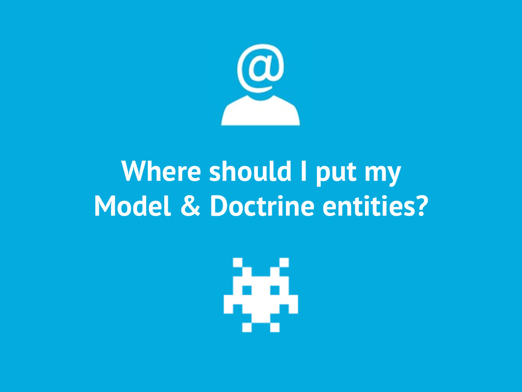 Where should I put my Model & Doctrine entities?