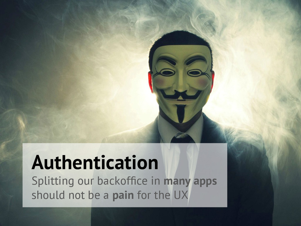 Authentication Splitting our backoffice in many ...