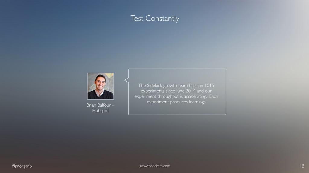 @morganb growthhackers.com 15 Test Constantly B...