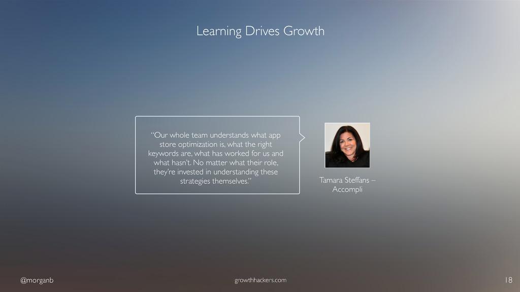 @morganb growthhackers.com 18 Learning Drives G...