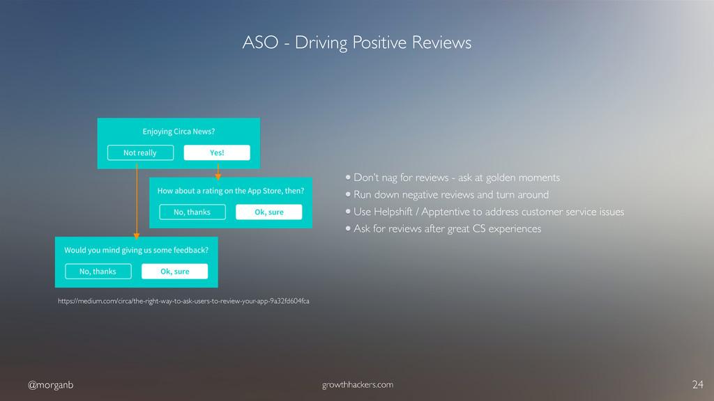 @morganb growthhackers.com 24 ASO - Driving Pos...