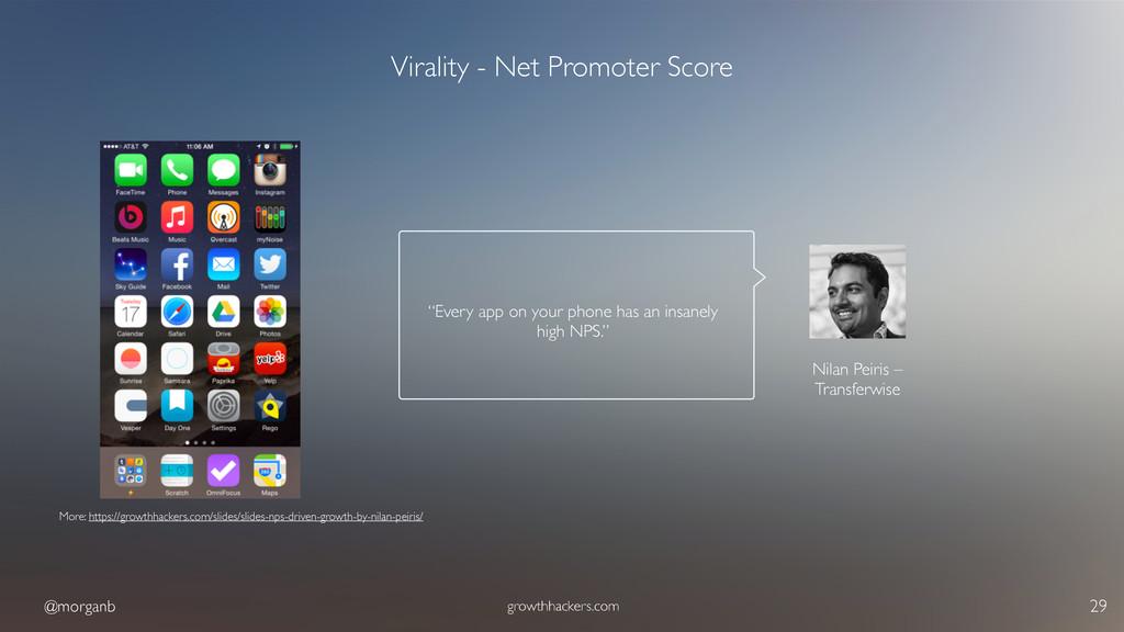 @morganb growthhackers.com 29 Virality - Net Pr...