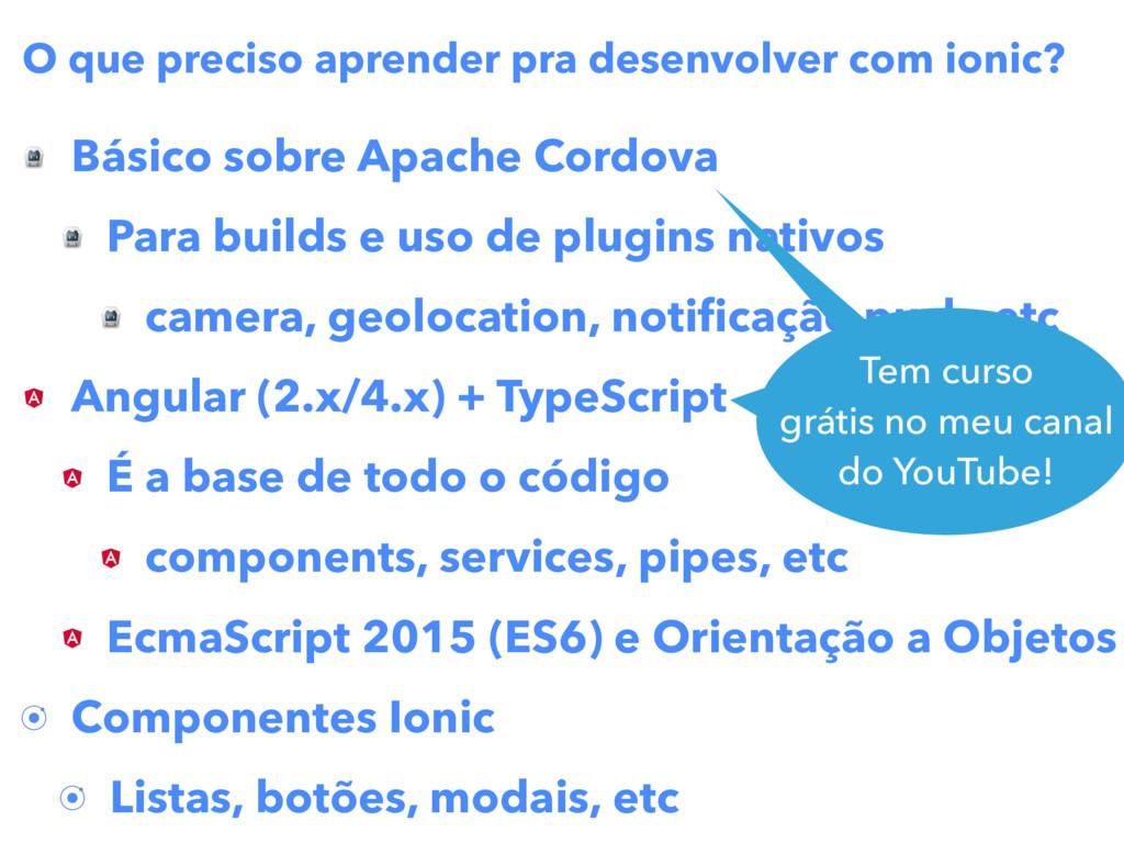 Básico sobre Apache Cordova Para builds e uso d...