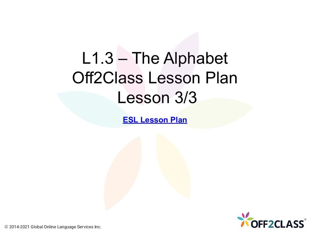 L1.3 – The Alphabet Off2Class Lesson Plan Lesso...