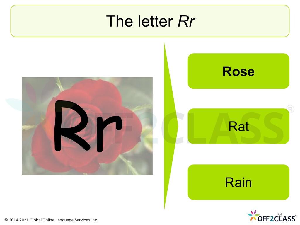Rr The letter Rr Rose Rat Rain © 2014-2021 Glob...