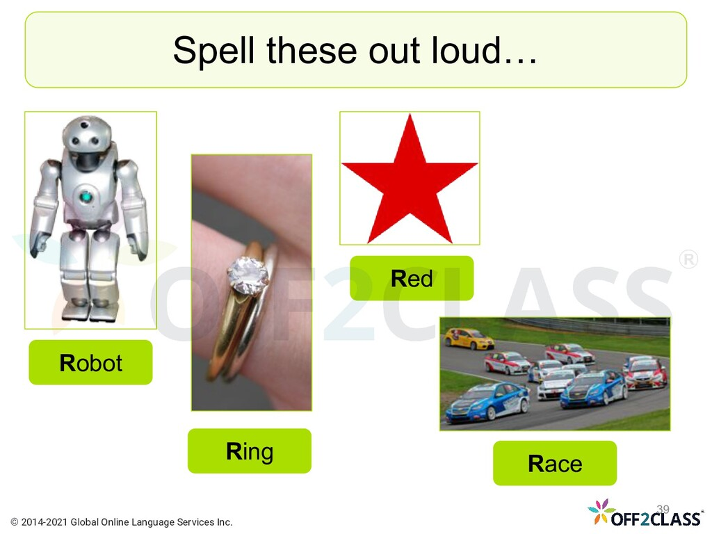 Spell these out loud… Robot Ring Race Red © 201...