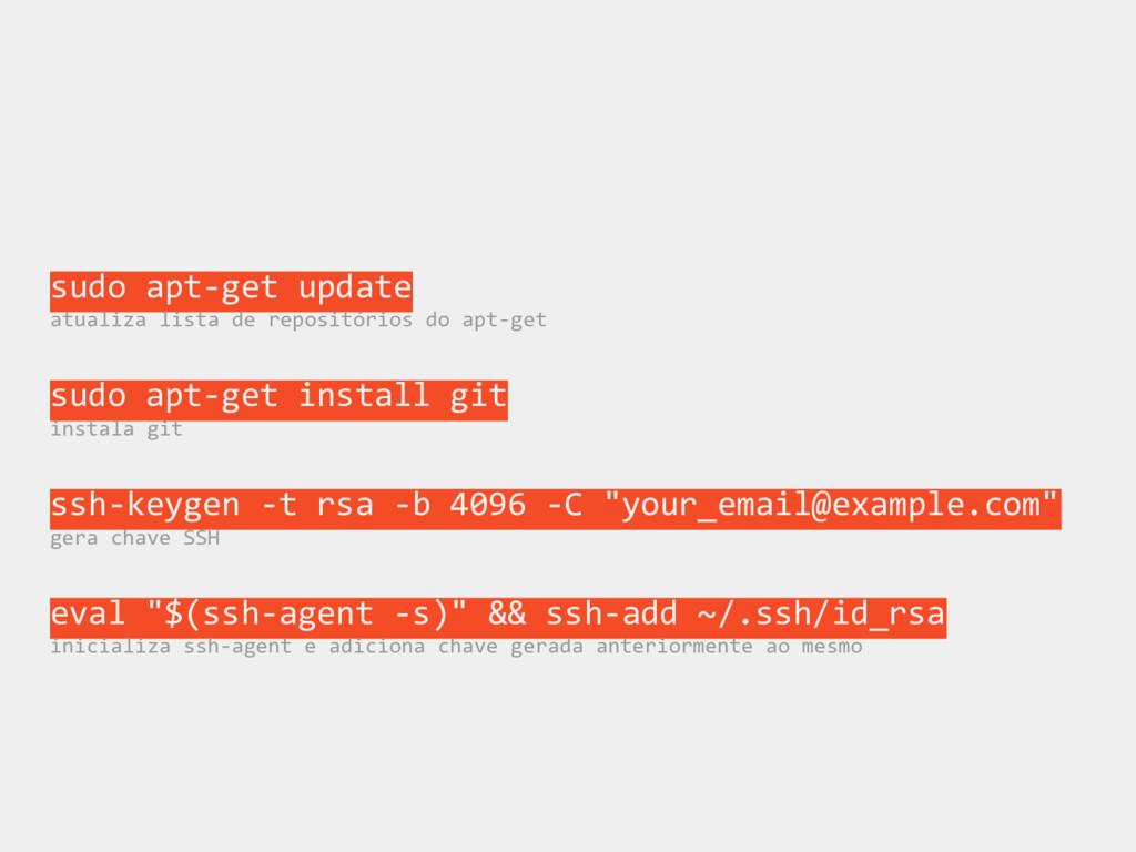 sudo apt-get update atualiza lista de repositór...
