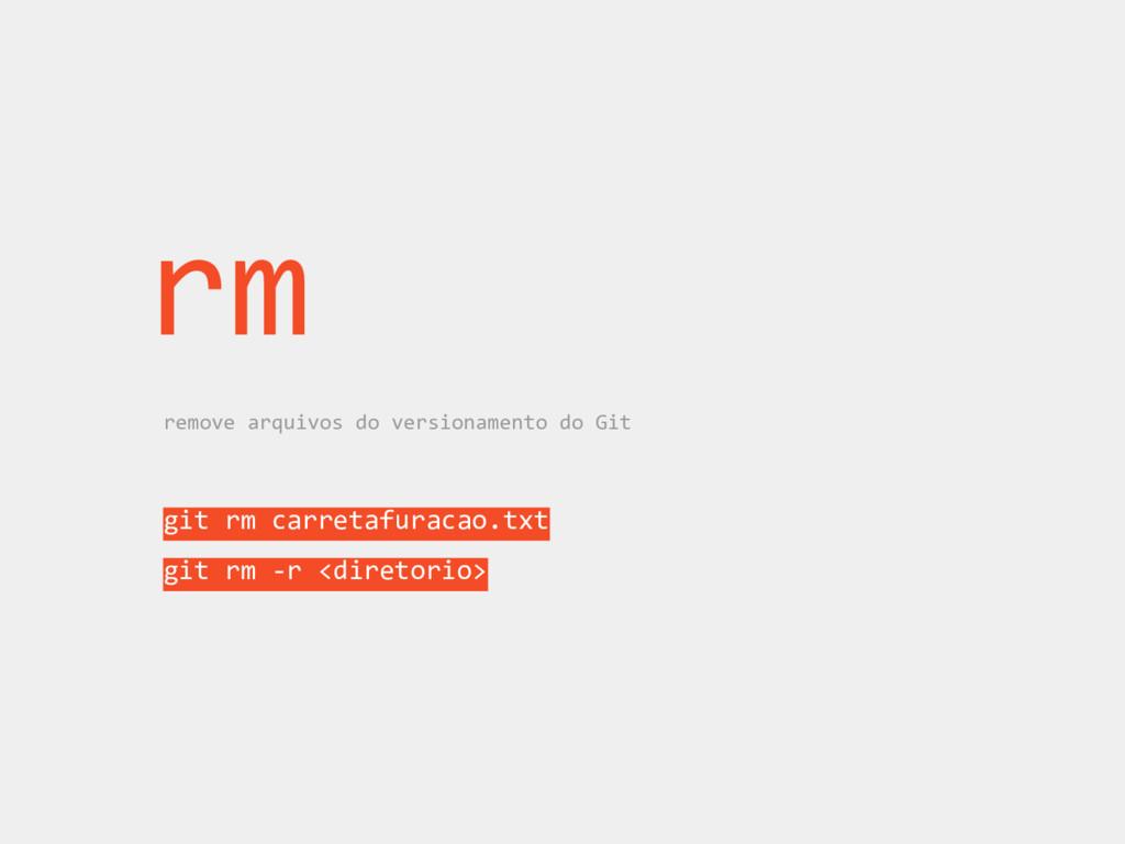 rm remove arquivos do versionamento do Git git ...
