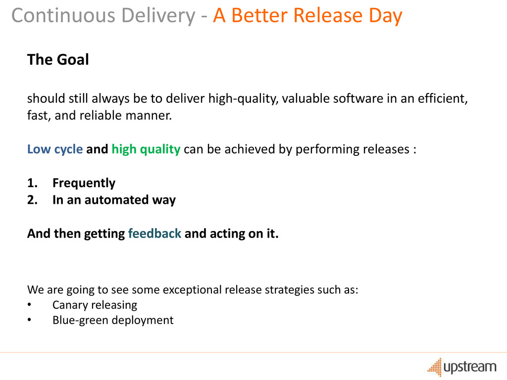 Continuous Delivery - A Better Release Day The ...