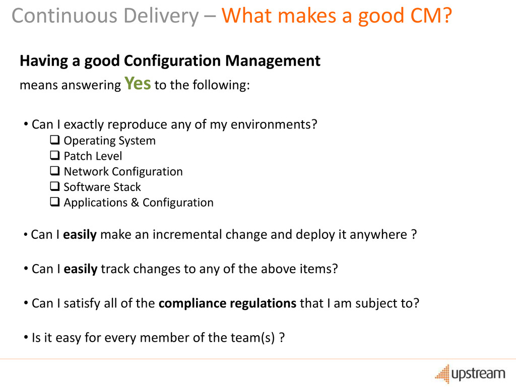 Continuous Delivery – What makes a good CM? Hav...