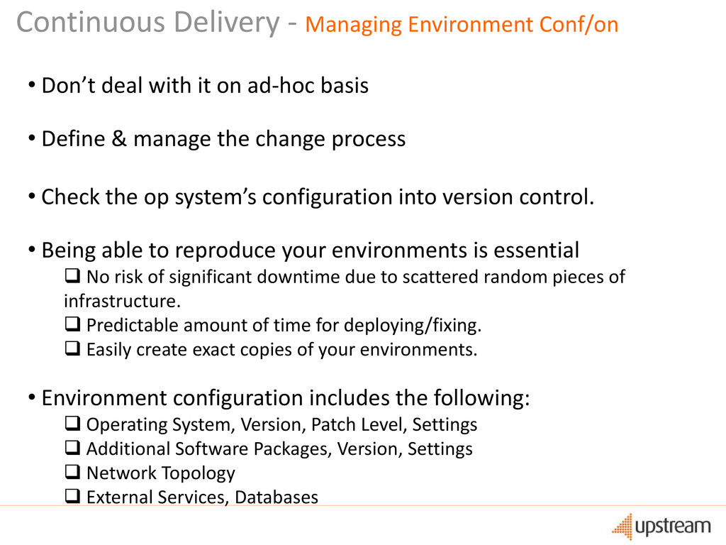 Continuous Delivery - Managing Environment Conf...
