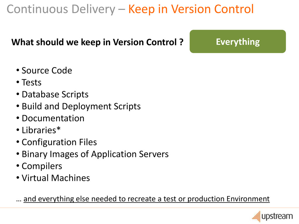 Continuous Delivery – Keep in Version Control W...