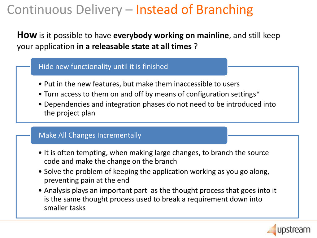Continuous Delivery – Instead of Branching How ...