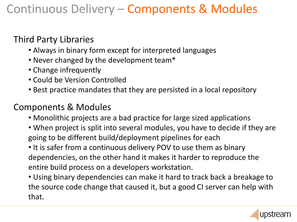 Continuous Delivery – Components & Modules Thir...