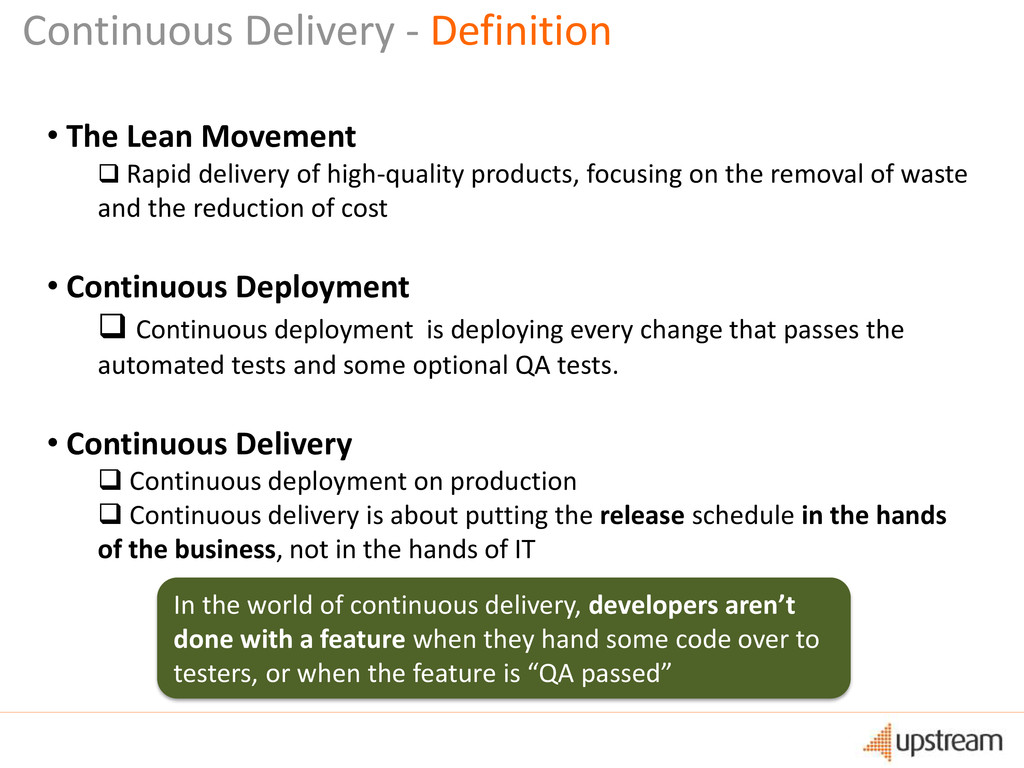 Continuous Delivery - Definition • The Lean Mov...