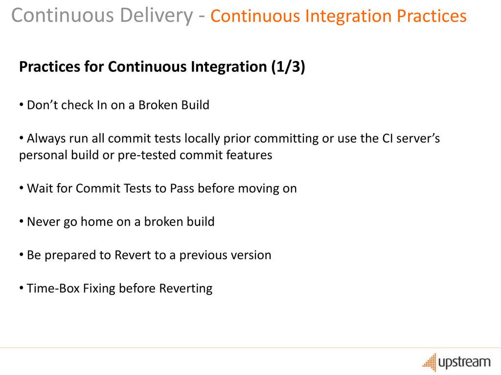 Continuous Delivery - Continuous Integration Pr...