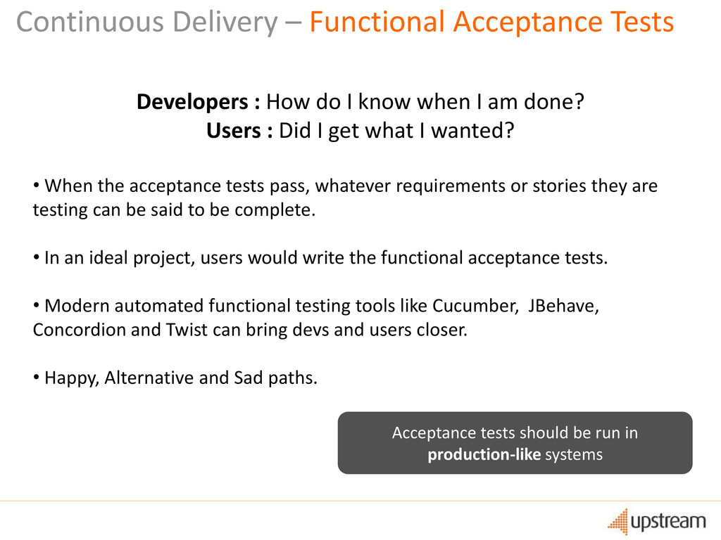 Continuous Delivery – Functional Acceptance Tes...