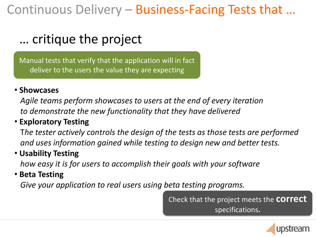 Continuous Delivery – Business-Facing Tests tha...