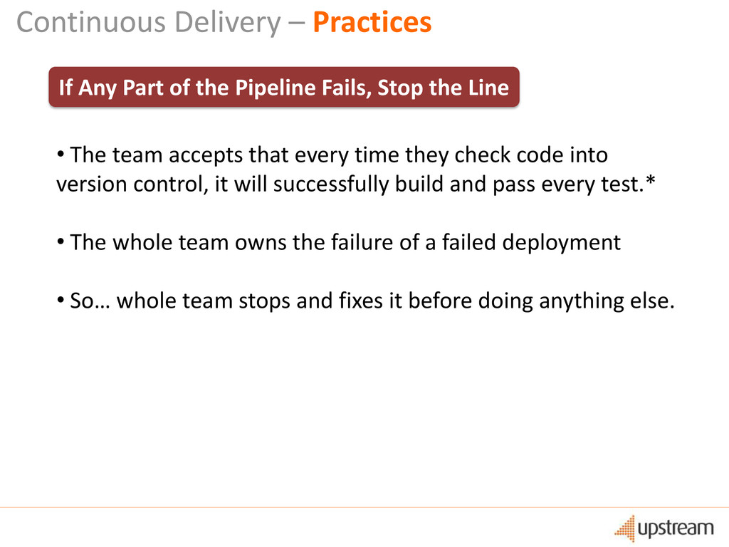 Continuous Delivery – Practices If Any Part of ...