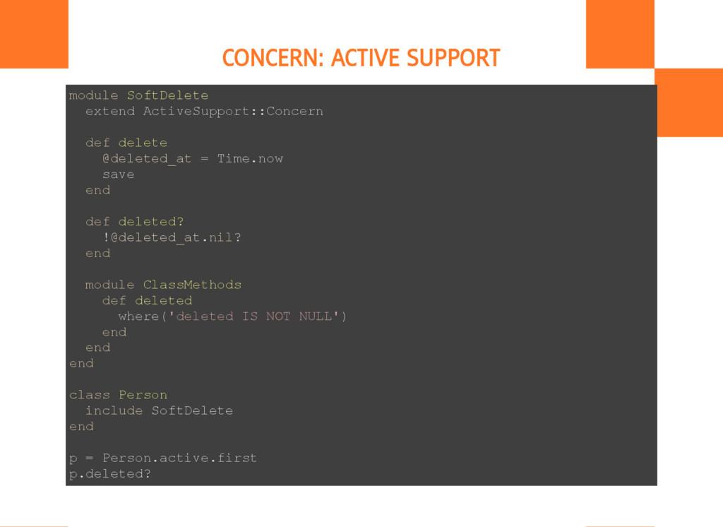 CONCERN: ACTIVE SUPPORT m o d u l e S o f t D e...