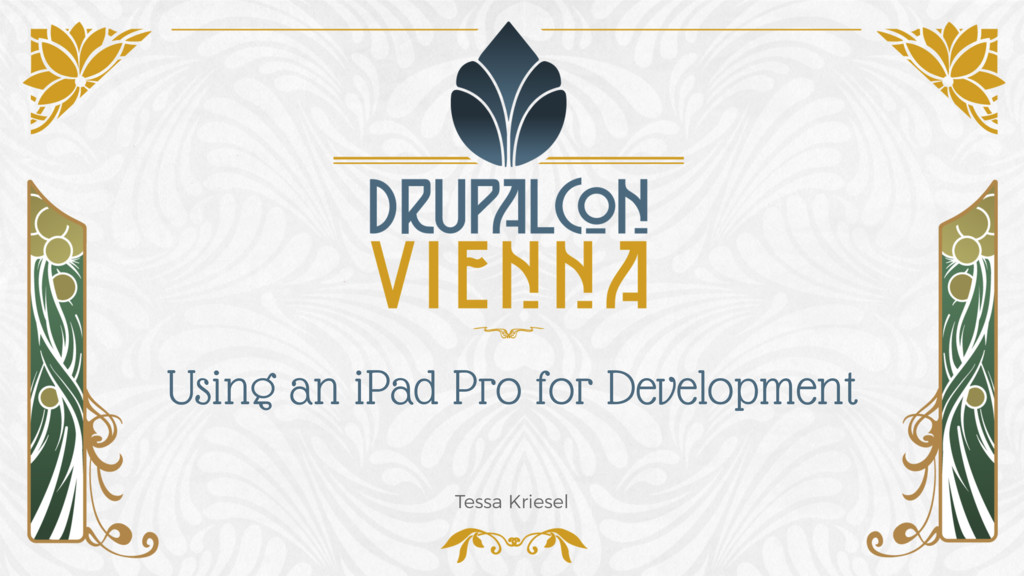 Using an iPad Pro for Development Tessa Kriesel