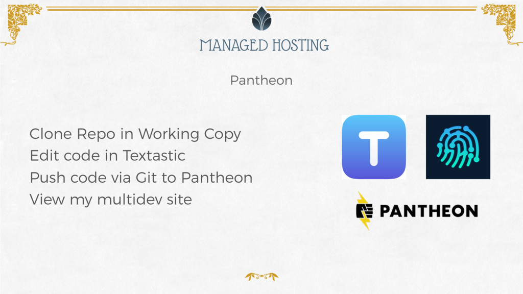 MANAGED HOSTING Pantheon Clone Repo in Working ...