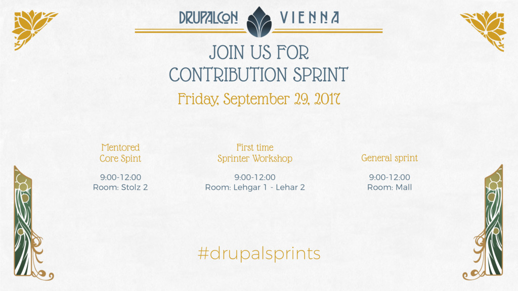 JOIN US FOR CONTRIBUTION SPRINT Friday, Septemb...