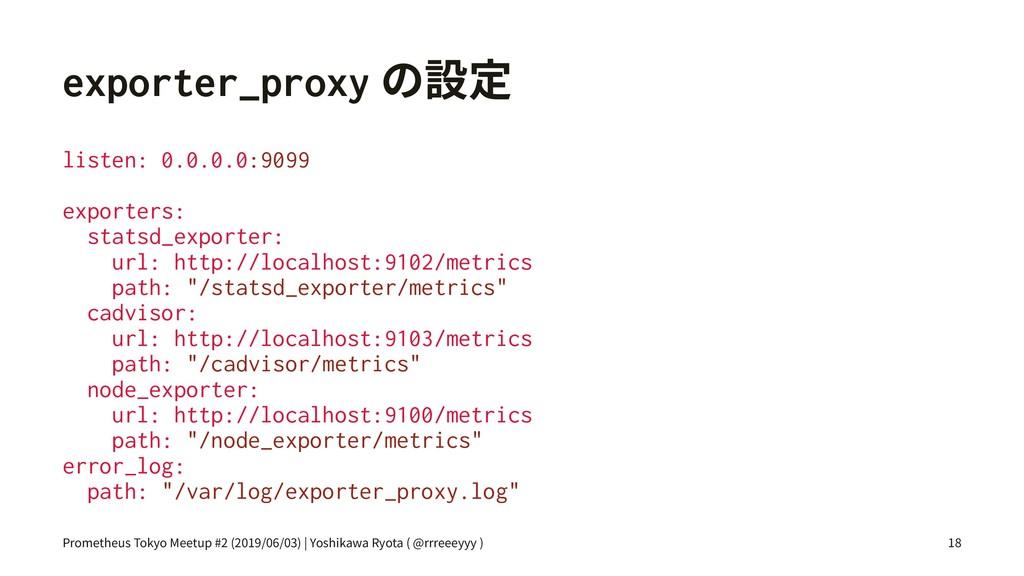 exporter_proxyך鏣㹀 listen: 0.0.0.0:9099 exporte...