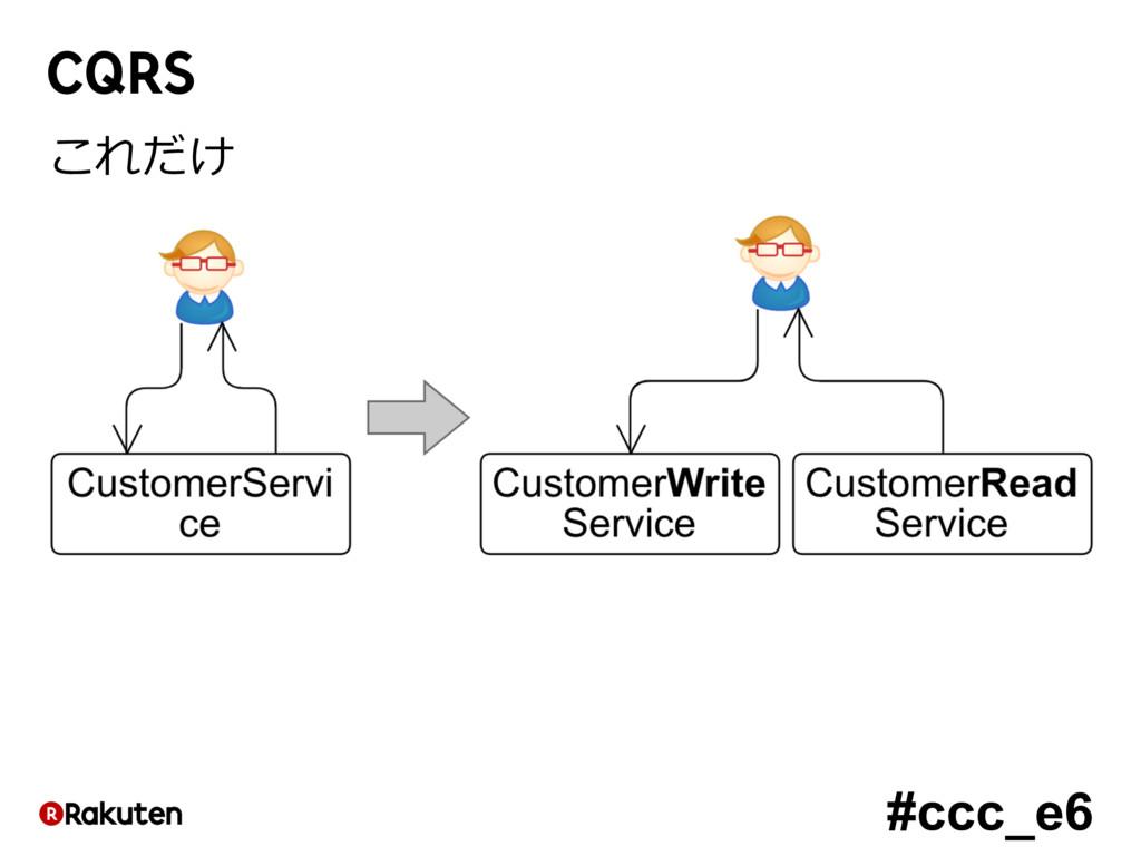 #ccc_e6 CQRS これだけ