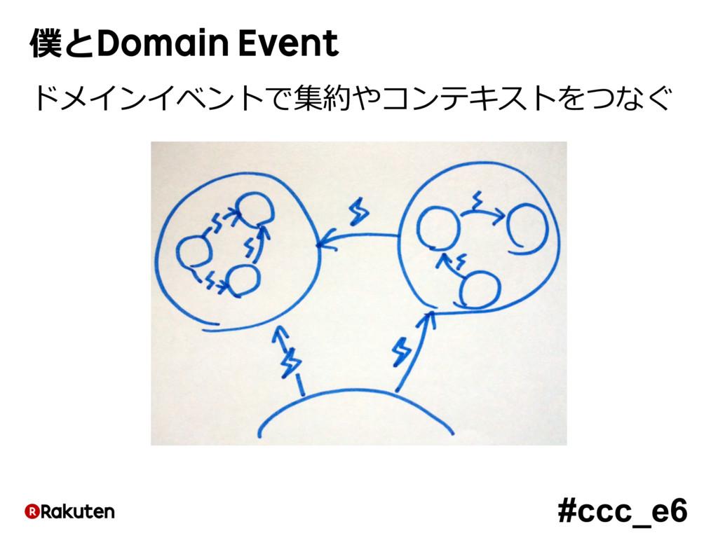 #ccc_e6 僕とDomain Event ドメインイベントで集約やコンテキストをつなぐ