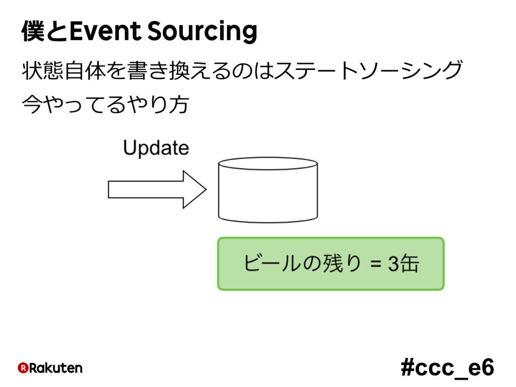 #ccc_e6 僕とEvent Sourcing 状態⾃体を書き換えるのはステートソーシング ...