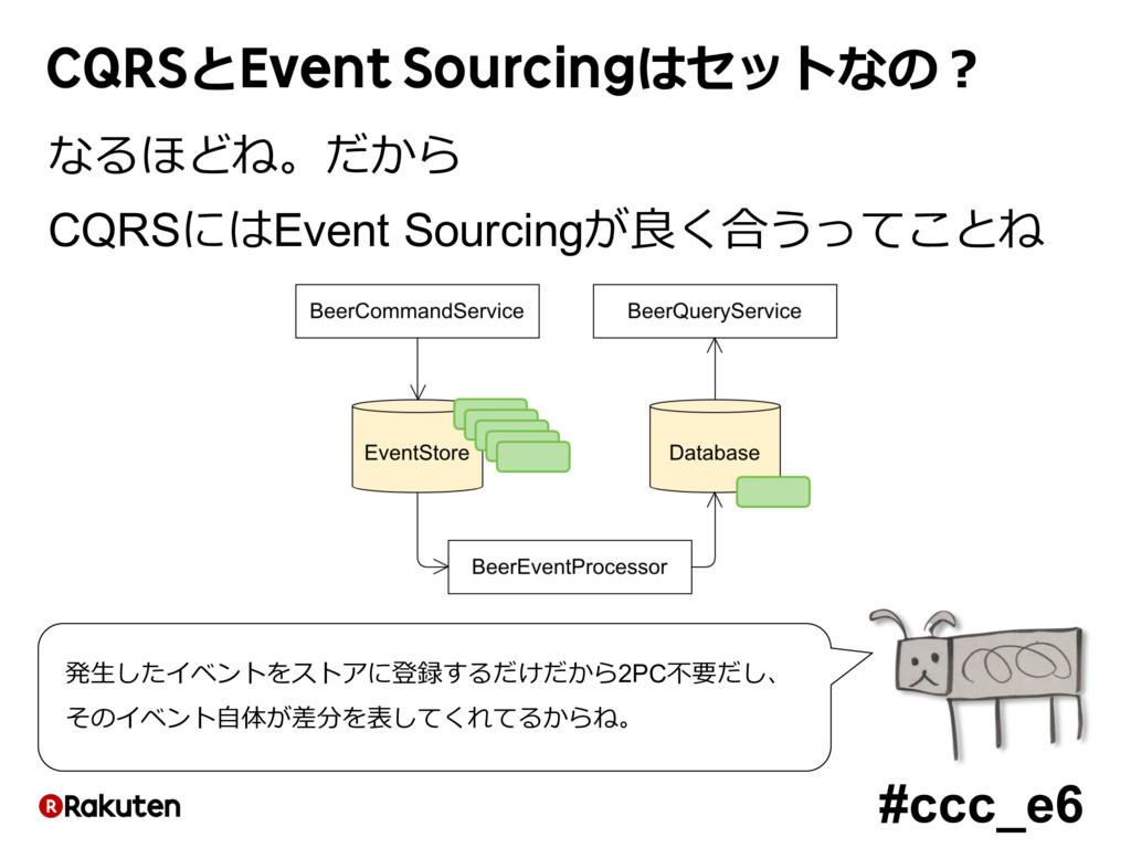#ccc_e6 CQRSとEvent Sourcingはセットなの? なるほどね。だから CQ...
