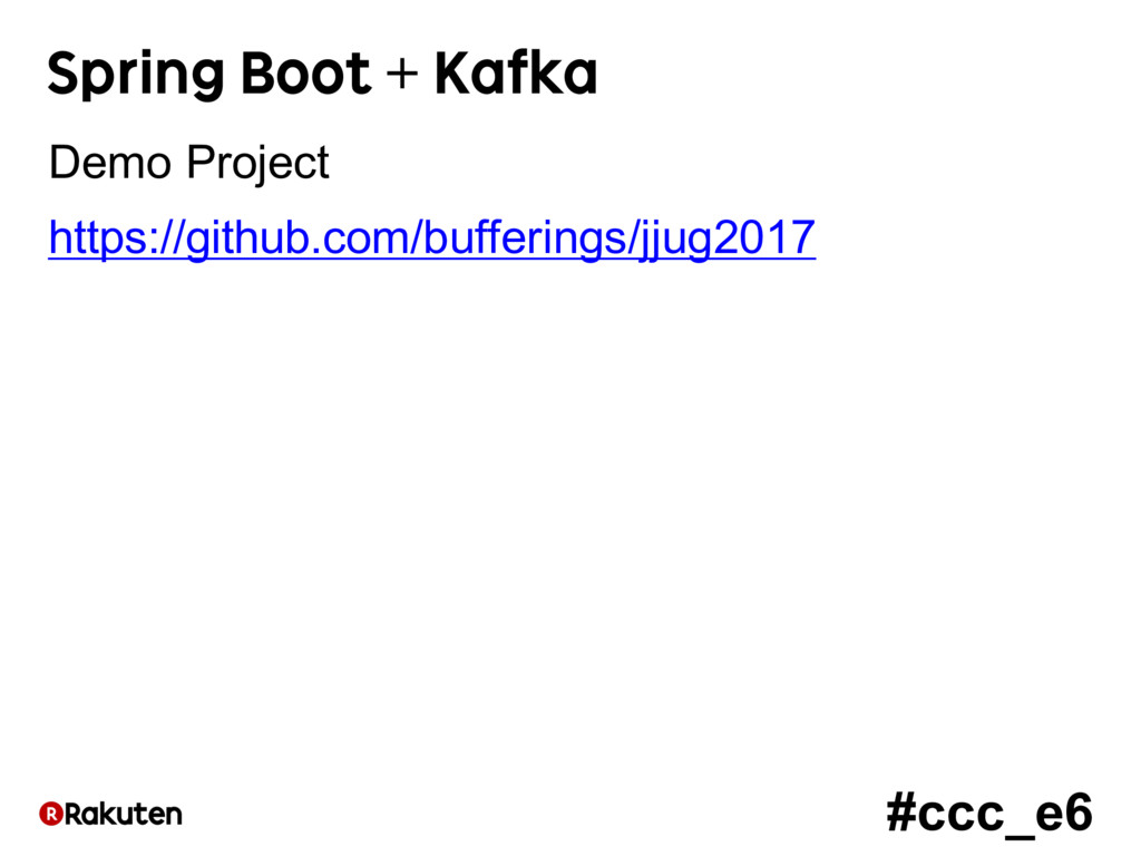 #ccc_e6 Spring Boot + Kafka Demo Project https:...