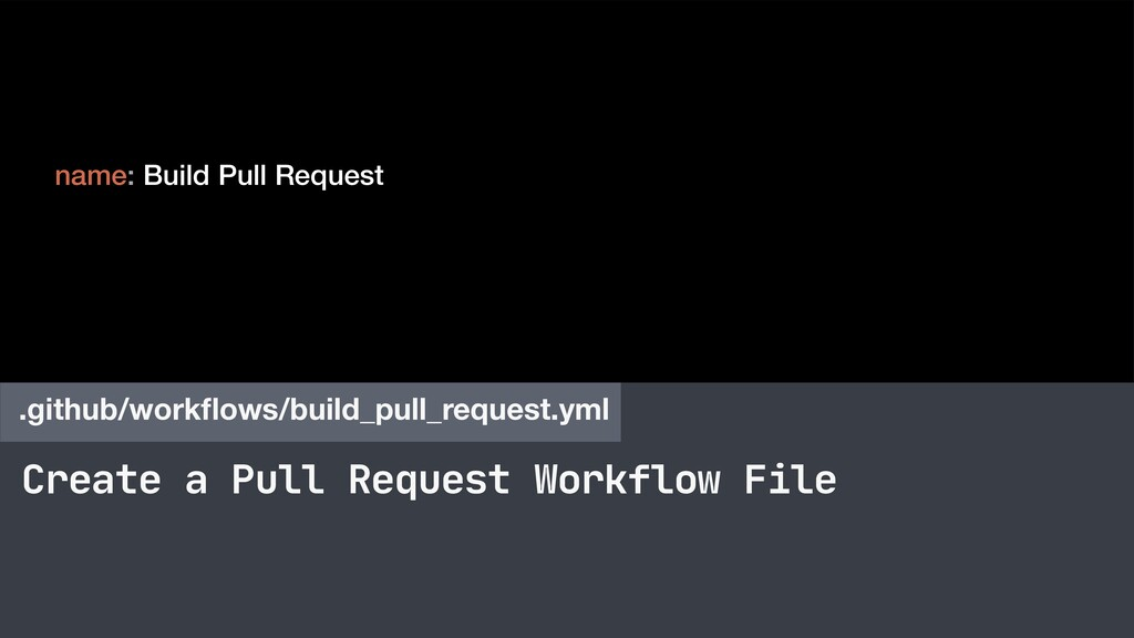 Create a Pull Request Workflow File .github/wor...