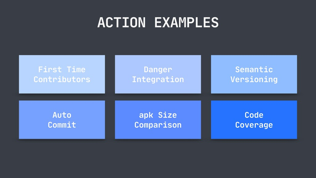 ACTION EXAMPLES First Time Contributors Danger ...