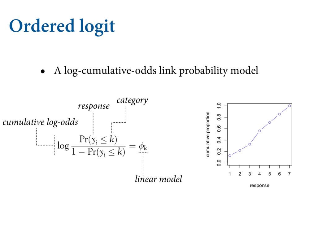 Ordered logit • A log-cumulative-odds link prob...