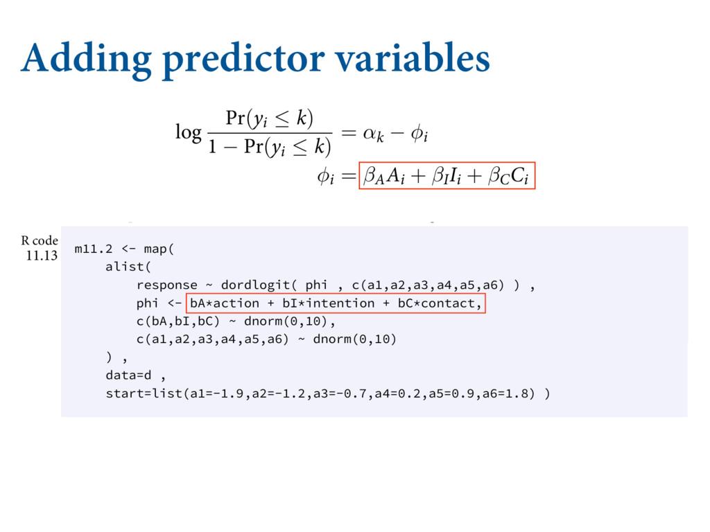 Adding predictor variables /PX XF DBO UVSO CBDL...
