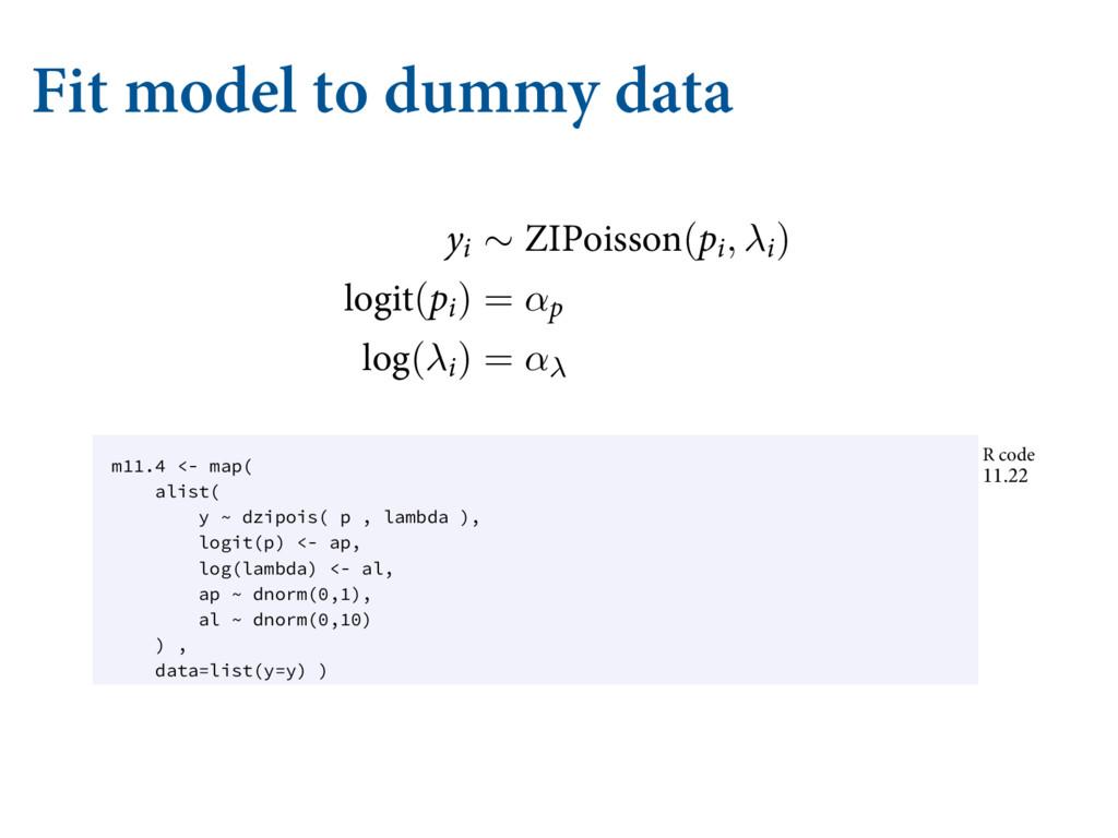 Fit model to dummy data ćF PVUDPNF WBSJBCMF XF ...