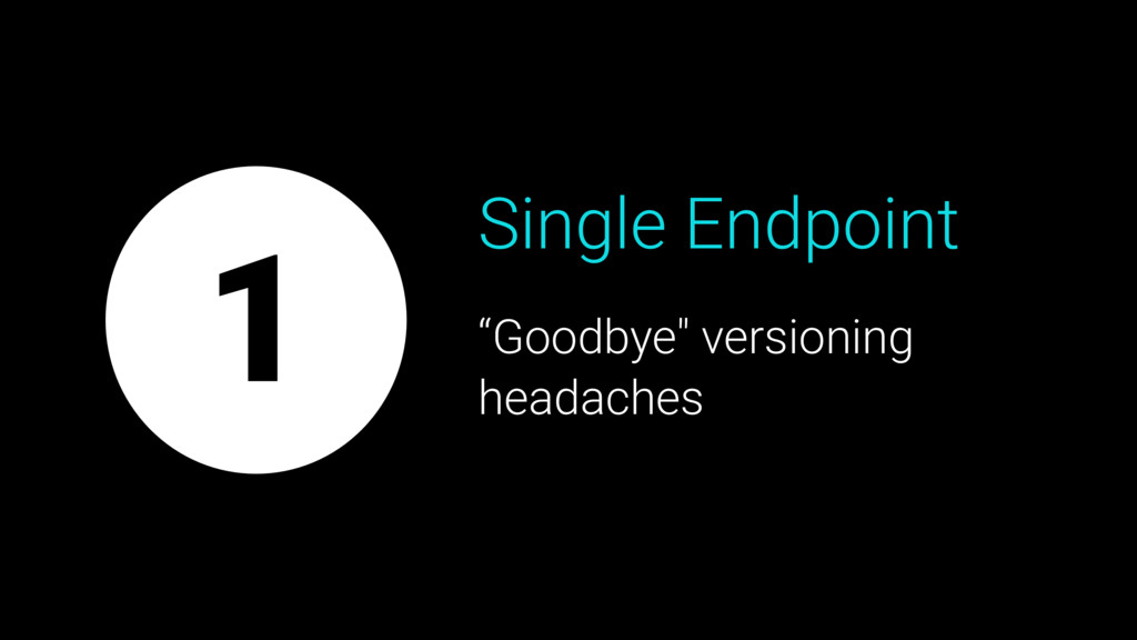 "Single Endpoint ""Goodbye"" versioning headaches 1"