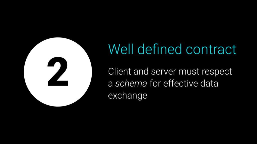 Well defined contract Client and server must res...