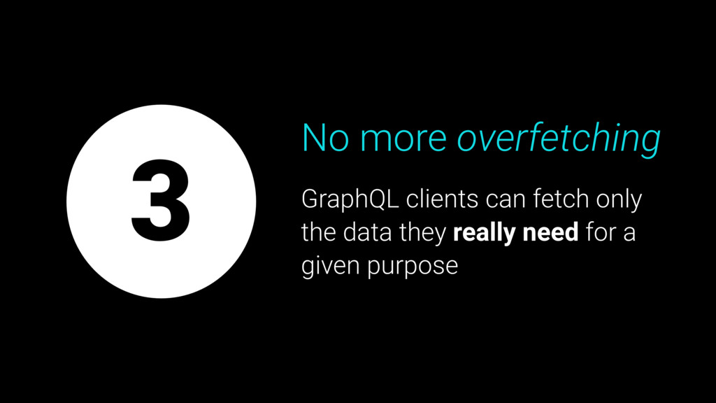No more overfetching GraphQL clients can fetch ...
