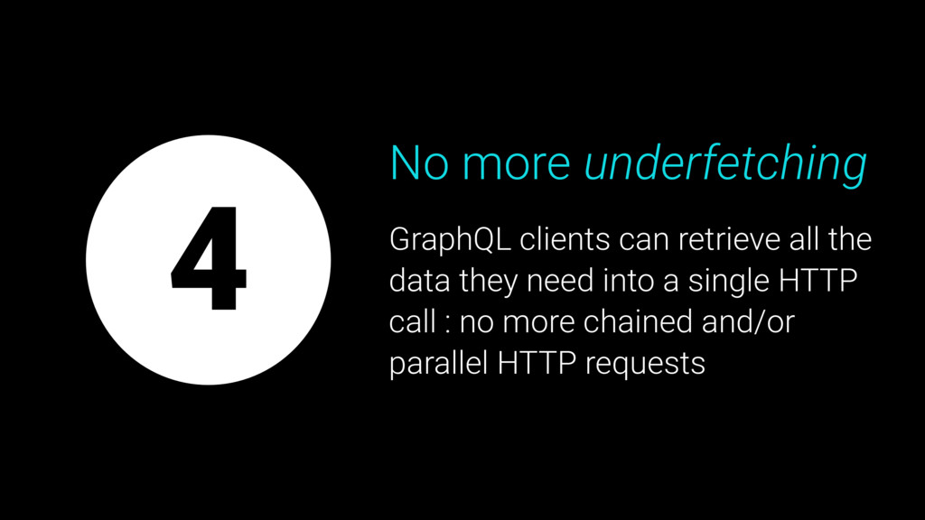 4 No more underfetching GraphQL clients can ret...