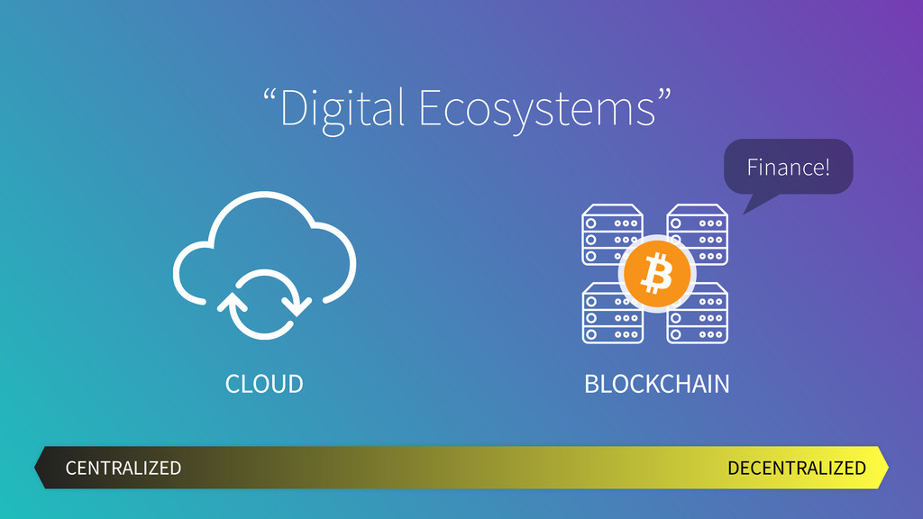"CLOUD BLOCKCHAIN DECENTRALIZED CENTRALIZED ""Dig..."