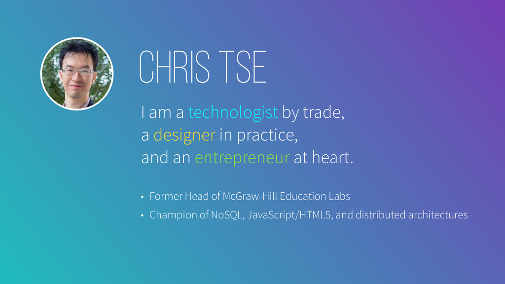 I am a technologist by trade, a designer in pra...