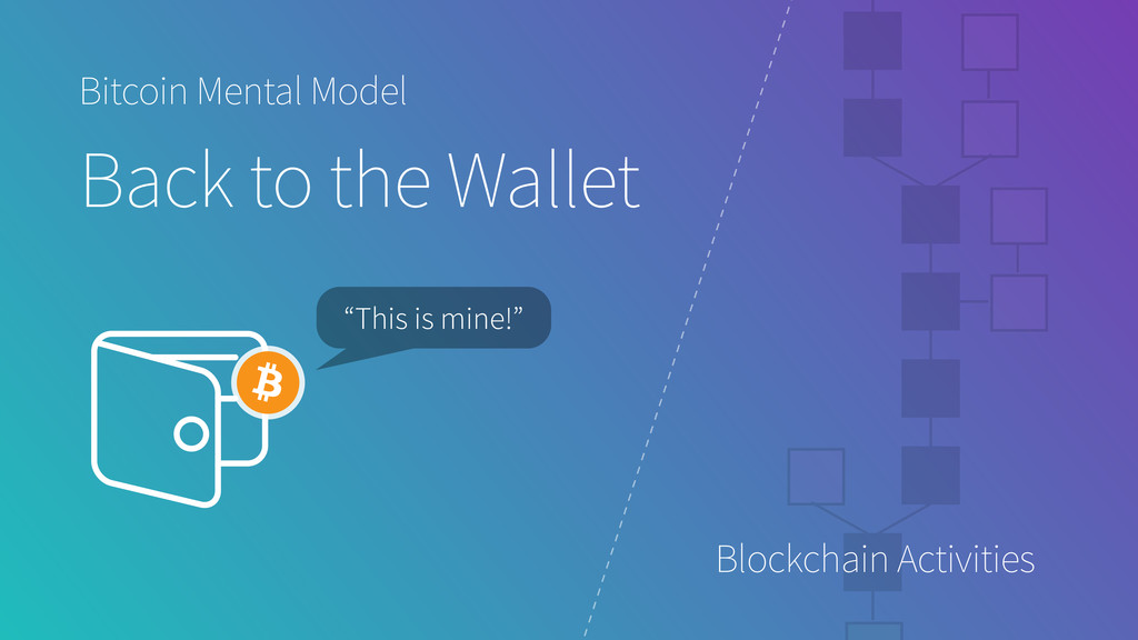 "Bitcoin Mental Model Back to the Wallet ""This i..."