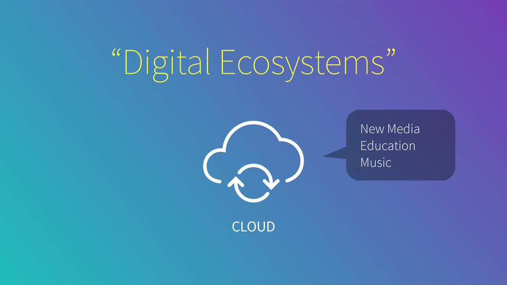 """Digital Ecosystems"" CLOUD New Media Education ..."