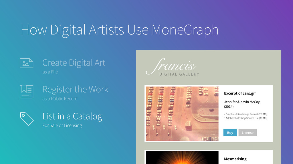 How Digital Artists Use MoneGraph Excerpt of ca...