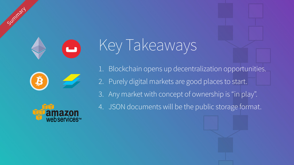 Sum m ary Key Takeaways 1. Blockchain opens up ...