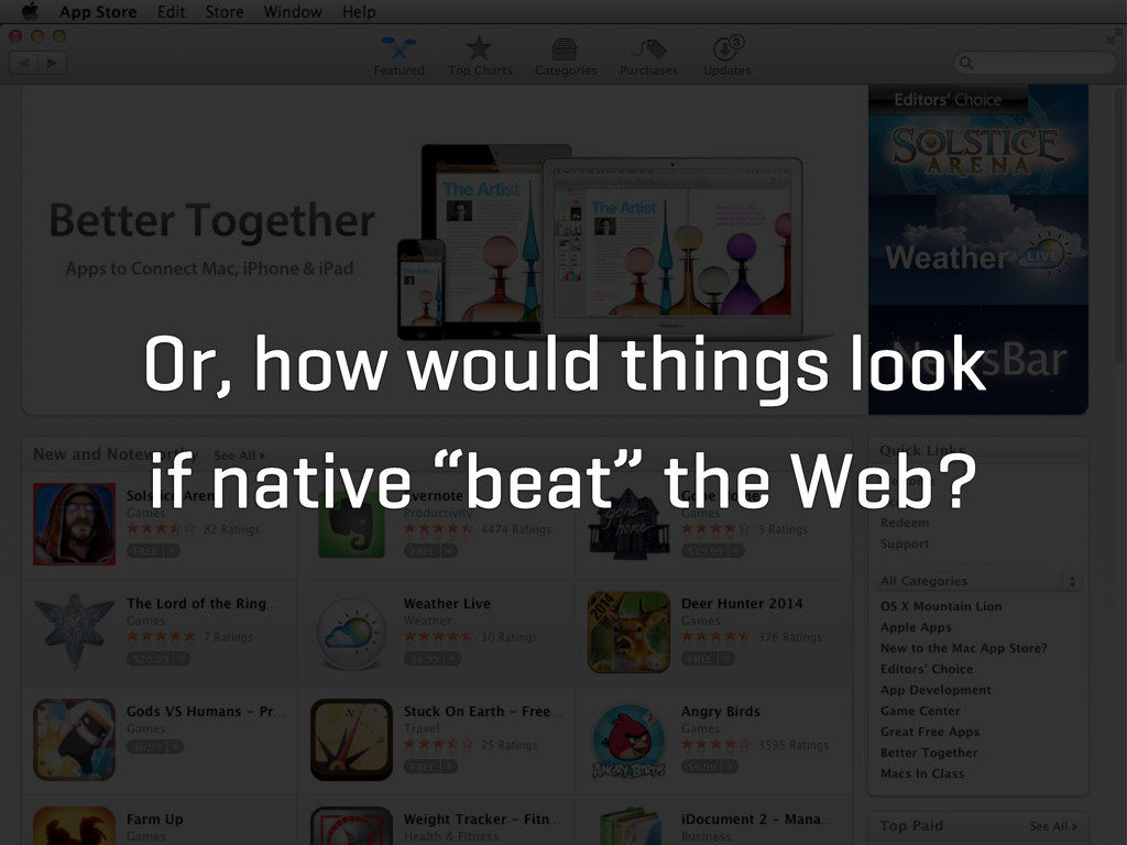"Or, how would things look if native ""beat"" the ..."