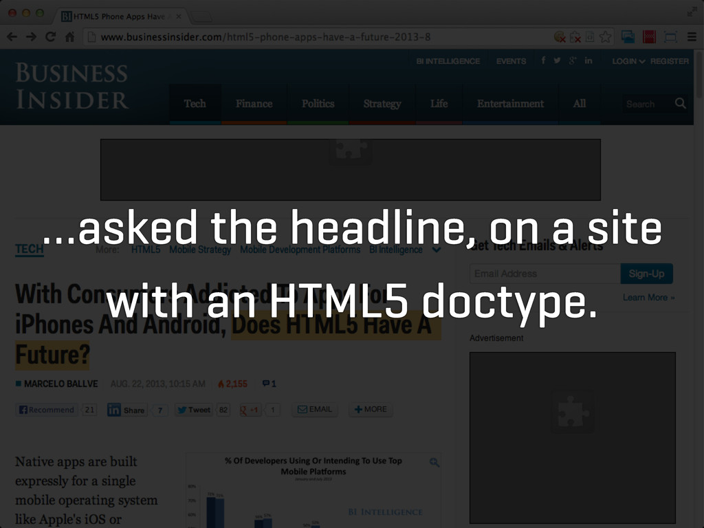 …asked the headline, on a site with an HTML5 do...